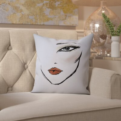 Dallas MaybellineNY NeoCleo Throw Pillow Size: 18 H x 18 W x 2 D