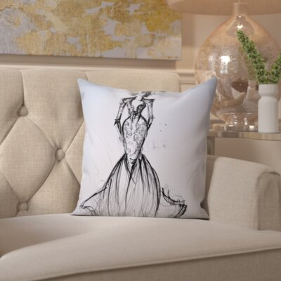 Spirit Lake Lace Gown Throw Pillow Size: 18 H x 18 W x 2 D