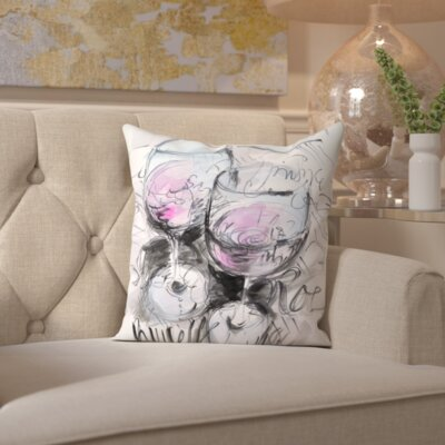 Lucy Parisian Rose Throw Pillow Size: 20 H x 20 W x 2 D