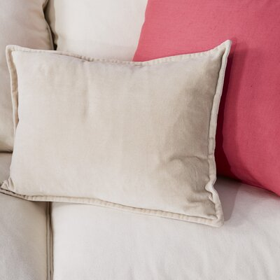 Trini Cotton Lumbar Pillow Color: Brown