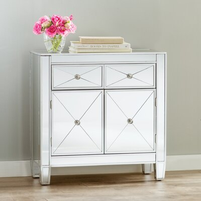Rachael 2 Drawer Accent Cabinet by House of Hampton