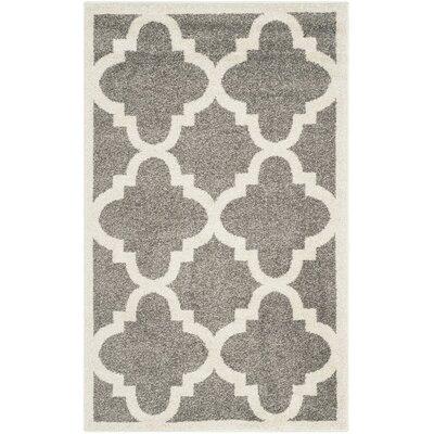 Levon Dark Grey/Beige Indoor/Outdoor Area Rug Rug Size: 26 x 4