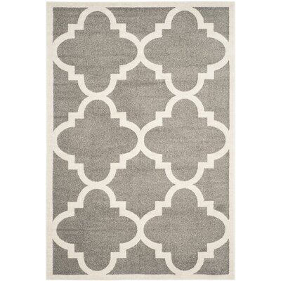 Maritza Dark Grey/Beige Indoor/Outdoor Area Rug Rug Size: 6 x 9