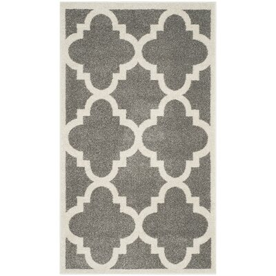 Maritza Dark Grey/Beige Indoor/Outdoor Area Rug Rug Size: 3 x 5