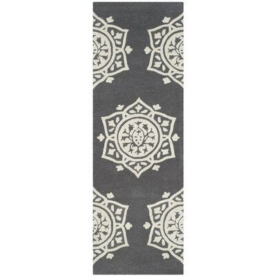 Romford Hand-Tufted Gray Area Rug Rug Size: Runner 23 x 7