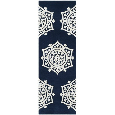Romford Hand-Tufted Blue Area Rug Rug Size: Runner 23 x 7