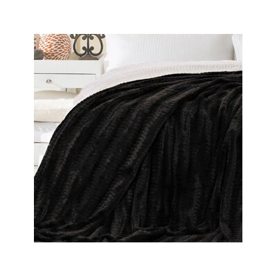 Hartzog Luxe Throw Blanket Color: Chocolate