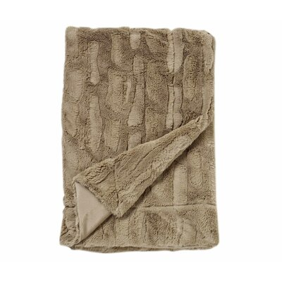 Florencio Embossed Throw Blanket Color: Taupe