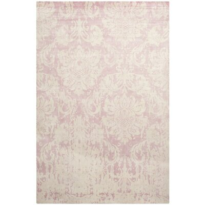 Bratton Hand-Knotted Pink Area Rug Rug Size: Rectangle 8' x 10'