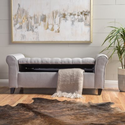 Havelock Storage Ottoman Upholstery: Light Gray