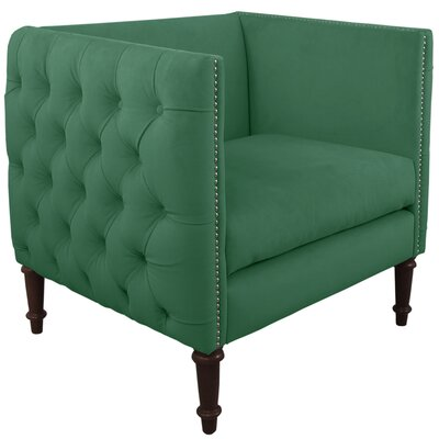 Lyric Nail Button Armchair Upholstery: Regal Laguna, Nailhead Detail: Pewter Nailhead
