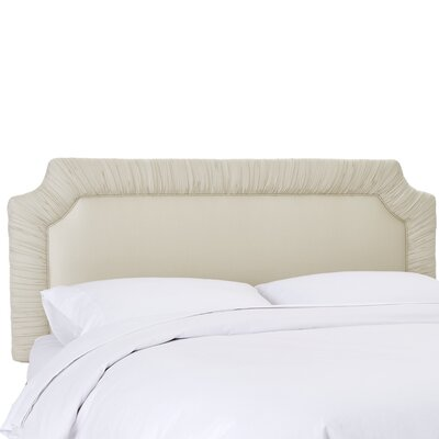 Aura Upholstered Panel Headboard Size: Twin, Upholstery Color: Parchment