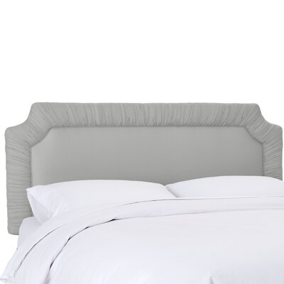 Aura Upholstered Panel Headboard Size: Full, Upholstery Color: Silver