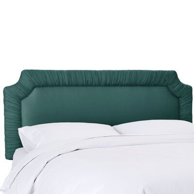 Aura Upholstered Panel Headboard Size: Full, Upholstery Color: Peacock