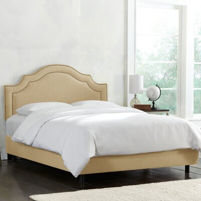 Deeanna Traditional Upholstered Panel Bed Fabric: Sandstone, Size: Full