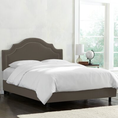 Deeanna Traditional Upholstered Panel Bed Size: Queen, Body Color: Slate