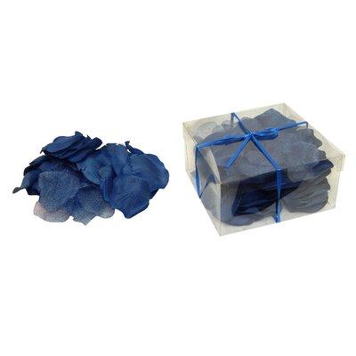Faux Rose Petals Flower Color: Dark Blue