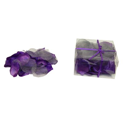 Faux Rose Petals Flower Color: Purple