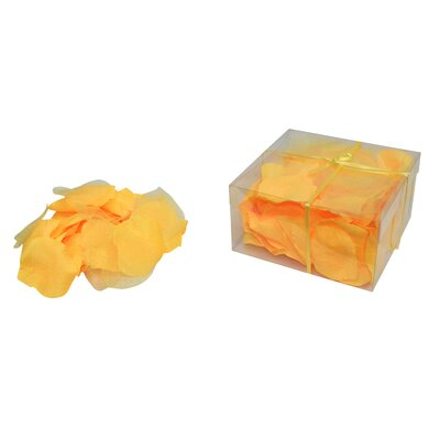 Faux Rose Petals Flower Color: Yellow
