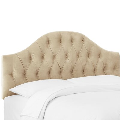 Zanuck Tufted Upholstered Panel Headboard Size: Twin, Upholstery Color: Buckwheat