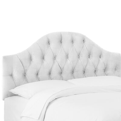 Deeanna Tufted Upholstered Panel Headboard Size: Queen, Upholstery Color: White