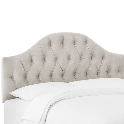 Deeanna Tufted Upholstered Panel Headboard Size: Queen, Upholstery Color: Light Gray