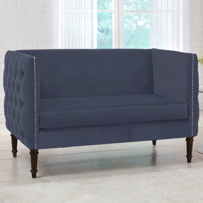 Lyric Chesterfield Settee Upholstery Color: Ocean