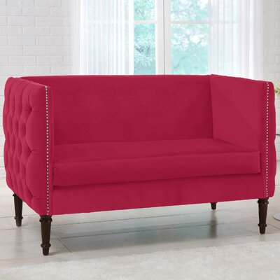 Lyric Chesterfield Settee Upholstery: Sangria