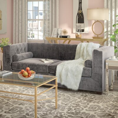 Dalila Chesterfield Sofa Upholstery: Charcoal