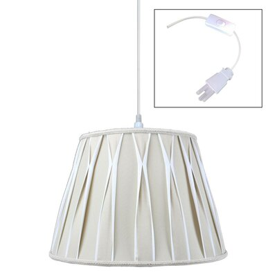 Cobbins 1-Light Pendant Shade Color: Off-White