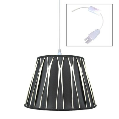 Cobbins 1-Light Pendant Shade Color: Black