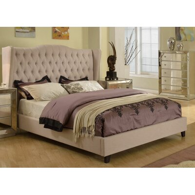 Aman Upholstered Panel Bed Size: California King