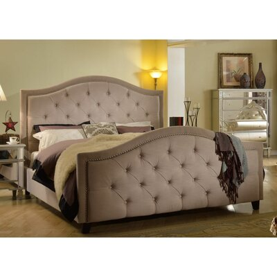 Elora Upholstered Panel Bed Size: California King