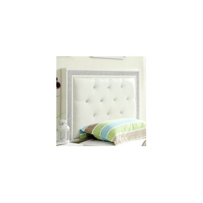 Algol Upholstered Panel Headboard Size: Full/Queen, Upholstery: White