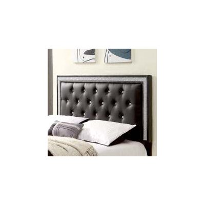 Algol Upholstered Panel Headboard Size: Twin, Upholstery: Black