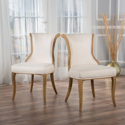 Bosarge Side Chairs Upholstery: Beige