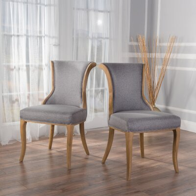 Beckwith Side Chairs Upholstery: Grey