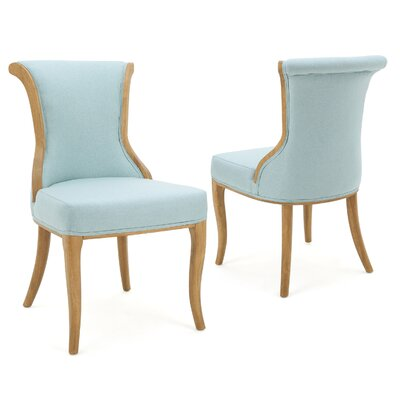 Bosarge Side Chairs Upholstery: Light Blue