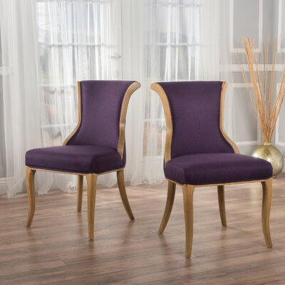 Beckwith Side Chair Upholstery: Plum