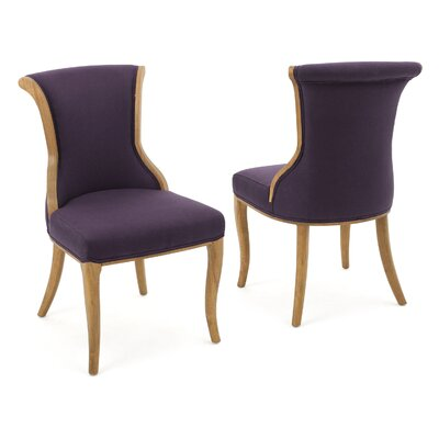 Bosarge Side Chairs Upholstery: Plum