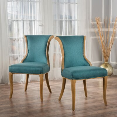 Beckwith Side Chairs Upholstery: Dark Teal