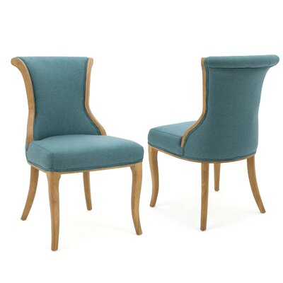 Bosarge Side Chairs Upholstery: Dark Teal