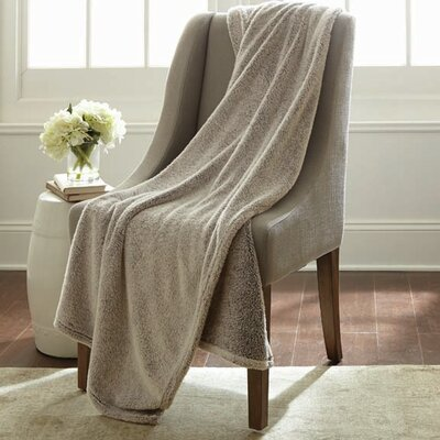 Niels Velvet Touch Two Tone Blanket Color: Chocolate