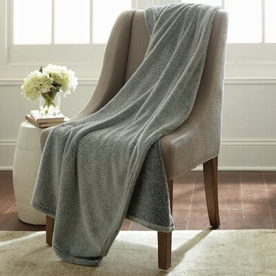 Niels Velvet Touch Two Tone Blanket Color: Charcoal