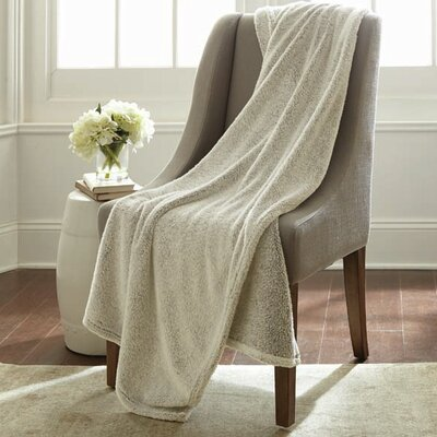 Niels Velvet Touch Two Tone Blanket Color: Birch