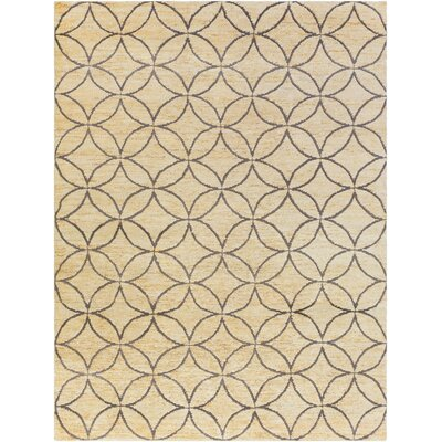 Shildon Hand-Knotted Beige Area Rug Rug Size: Rectangle 33 x 53