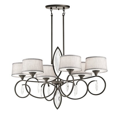 Claudine 6-Light Drum Chandelier Finish: Olde Bronze