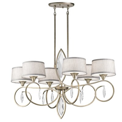 Claudine 6-Light Drum Chandelier Finish: Sterling Gold