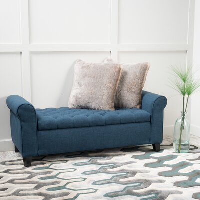 Havelock Storage Ottoman Upholstery: Dark Blue