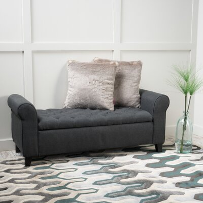 Havelock Storage Ottoman Upholstery: Dark Grey